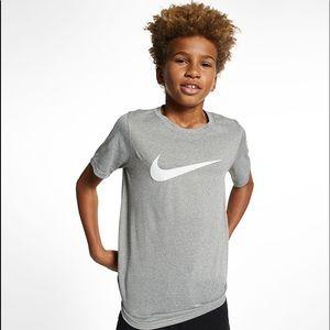 Nike Swoosh Logo Dri-Fit Little Boys Tee Shirt